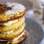 Zitronenpfannkuchen mit süßer Zitronen-Mascarpone Creme