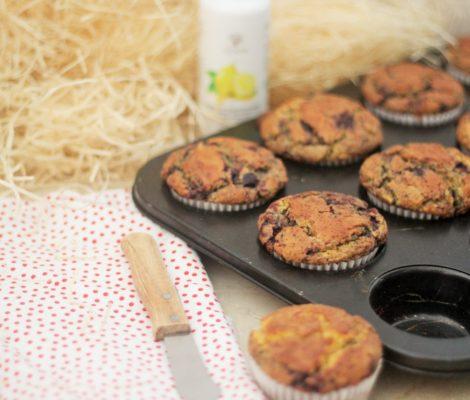 Blueberry, Oat & Lemon Oil Muffins