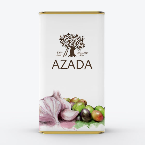 Aceite de oliva virgen extra ecológico con ajo fresco