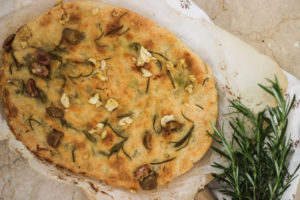 Roast Garlic Focaccia
