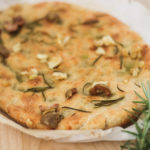 Roast Garlic, Olive and Rosemary Focaccia With Organic Extra Virgin Olive Oil