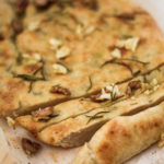 Roast Garlic, Olive and Rosemary Focaccia with Azada Organic Extra Virgin Olive Oil