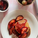 Gluten-free Pancakes with Red Plums