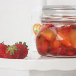 Pickled Strawberries with Orange Blossom Water with Azada's Olive Oil & Crushed Orange