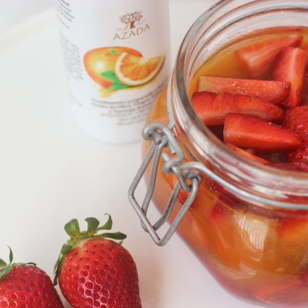 Pickled Strawberries with Orange Blossom Water