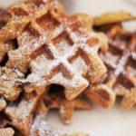 Lemon and Oat Waffles with Azada's Olive Oil