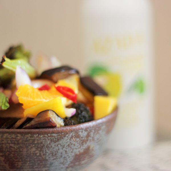 Bimi Salad with Asian Dressing